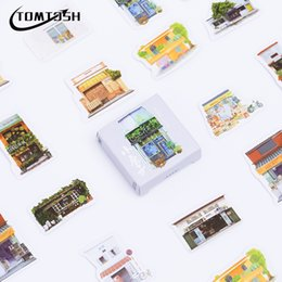 Discount diary stickers labels - TOMTOSH 45 pcs lot mini Little House paper sticker decoration DIY ablum diary scrapbooking label sealing stickerstatione