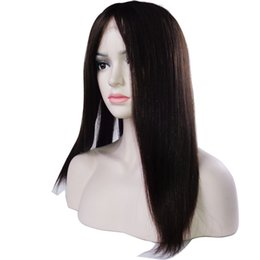 mongolian human hair wigs UK - Mongolian hair unprocessed virgin remy human hair natural straight natural color long cosplay full lace wig for women