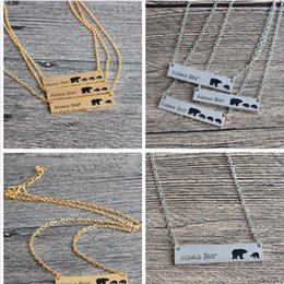 Discount easter gifts for wife 2018 easter gifts for wife on sale discount easter gifts for wife silver gold plated bear necklace polar mama bear necklaces jewelry gifts negle Image collections