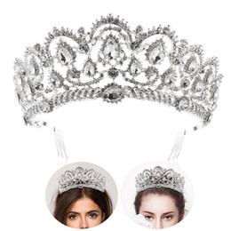 Bling Party Decorations Australia - Rhinestone Bridal Headpiece Crown Bling Crystal Queen Tiara with Side Comb Glittering Jewelry Decoration Wedding Engagement C18110901