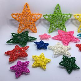 $enCountryForm.capitalKeyWord Australia - Home Ornament Supplies 6cm Rattan stars Artificial Straw Ball For Birthday Party Wedding Decoration Christmas Decor 20pcs lot