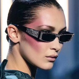 9c3229ebea2 2018 New Square Sunglasses Women Brand Designer Imitation Diamond Sun  Glasses Small Size Crystal Shades Rectangle Eyewear