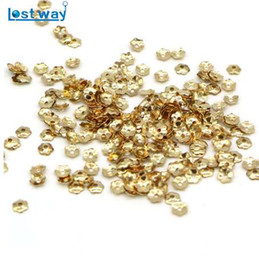 Discount silver round 4mm spacer beads 4mm 1000pcs lot Wholesale Metal Six Leaves Bead Cups Silver Gold Color Flower Petal Spacer Beads Caps Finding For Jewelr