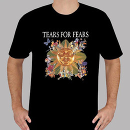 Band Clothes For Australia - New Tears For Fears Pop Rock Band Music Logo Men's Black T-Shirt Size S To 3Xl Tees Shirt Men Brand Clothing Custom Short Sleeve Valentine's
