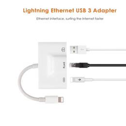 Usb female lan online shopping - iPhone iPad to RJ45 Adapter Lightning to RJ45 Ethernet LAN Wired Network Adapter Lightning to USB Camera Female OTG Convertor Light