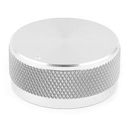 "$enCountryForm.capitalKeyWord UK - 1.4""x0.6"" Silver Tone Solid Aluminum Hifi Speaker Radio Volume Knobs"