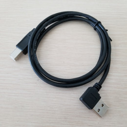 $enCountryForm.capitalKeyWord Australia - 10pcs lot USB 2.0 Type A 90 Degree Up & Down Bending to USB Type B Data Extension Cable 1M Black for Hard Drive Printer Scanner