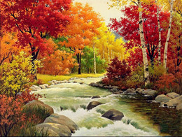 Hobby mosaic online shopping - 5D Diy Diamond Painting Cross Stitch Diamond Embroidery Landscape Autumn Forest Pattern Hobbies And Crafts Diamond Mosaic Kits