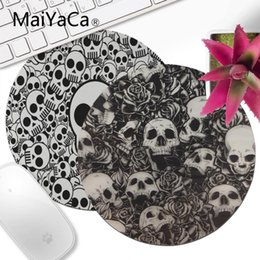 $enCountryForm.capitalKeyWord NZ - MaiYaCa funny cute skull pattern Unique Desktop Pad Round Keyboards Mat Gamer Gaming mouse pad Desk Mat anime mouse
