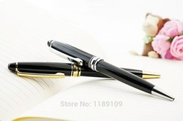 $enCountryForm.capitalKeyWord NZ - New High Quality Business Gold Silver Clip Metal Ballpoint Pen parker style refill pen School Stationery Gift