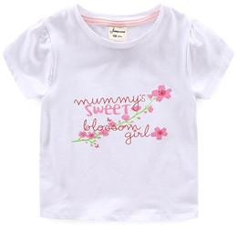 784470b030c8f T-shirt blanc pour bébé Floral Pink Tee avec lettres Momie Sweet Blossom  Girl Impression Design pour reliure à l arrière