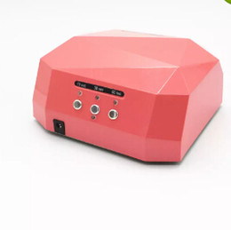 PurPle gel nail Polish online shopping - AUTO Sensor UV LED Nail Lamp nail dryer Diamond Shaped W White Light Curing for UV Gel Nails Polish Art Tools