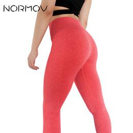 Leggings Sport Pants Canada - NORMOV Solid Fitness Clothing Sweat Yoga Pants Tights Women High Waist Leggings Female Sport Running Training Pants Trousers