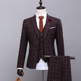 $enCountryForm.capitalKeyWord Canada - Men Suits 3 Pieces Slim Fit Peaked Lapel Groomsmen Back Vent Wedding Best Man Suit Tuxedos (Jacket+Vest+Pants) SG020