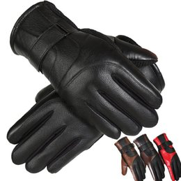 $enCountryForm.capitalKeyWord Australia - Leather gloves winter men's windproof leather gloves men riding motorcycles to keep warm electric car outdoor cycling gloves