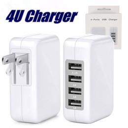 С пакетом 3.1A 15W Высокоскоростной 4-портовый USB-зарядное устройство Портативное зарядное устройство Адаптер питания со складной вилкой для смартфонов Samsung