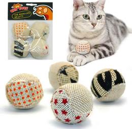 $enCountryForm.capitalKeyWord Canada - 4pcs pack Ball Cat Toy Interactive Cat Toys Play Chewing Rattle Scratch Catch Pet Kitten Cat Exrecise Toy Balls