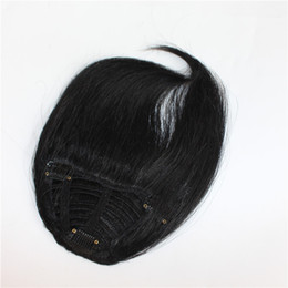 Chinese  S-noilite Real thick Natural Bang False Hair Bangs black brown blonde auburn red Clip In on Human Hair Fringe manufacturers