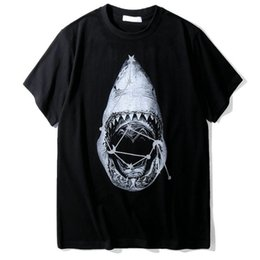 China fashion designer brand clothing t-shirt for men 3D shark animal print short sleeve cotton casual tshirt tee tops round neck shirt cheap 3d shirts shark suppliers