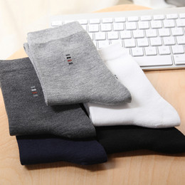 Wholesale white cotton crew socks online – funny 10pairs Men Socks Casual Business Brand Calcetines Hombre Socks Men Winter Spring Cotton Crew Socks Without Box