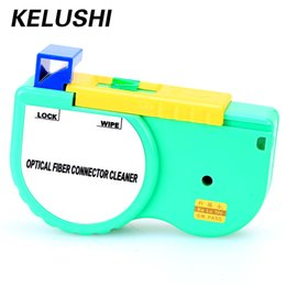 fiber optics cables Australia - KELUSHI Fiber Optic Connector Cleaner One-Click Optical Cleaning for SC ST FC Cable And Connector Ferrule Reel Inspection Tool