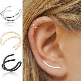 dbc3123d1 cuff cartilage piercing 2019 - Cartilage Ear Clip Simple Clip On Earring  Jewellery 1 Pair Fashion