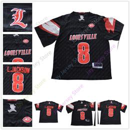 2018 NCAA College Football Louisville Cardinals Jerseys 8 Lamar Jackson  Jersey Home Black Size S M L XL 2XL 180521260