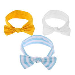 $enCountryForm.capitalKeyWord Australia - 3pcs Cute Bowknot Baby Headband Infant Girls Cotton Elastic Hairband Kits New Colorful Boho Newborn Toddler Headdress