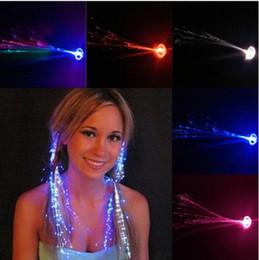 $enCountryForm.capitalKeyWord Australia - Luminous Light Up LED Hair Extension Flash Braid Party girl Hair Glow by fiber optic For Party Christmas Halloween Night Lights Decoration