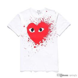 d31846fe901 2018 COM AAA Quality des 1 Divergence Camiseta con estampado de corazón  Blanco Corazón rojo Talla M decisión rápida F   S