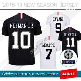 2019 MBAPPE PARIS champion league home balck away white soccer jersey DI  MARIA CAVANI DRAXLER 18 19 football shirts PSG Football Uniform beb592e20