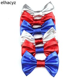 "$enCountryForm.capitalKeyWord NZ - 1PC Retail Trendy American Independence Day Shimmery 4"" Hair Bow Barrette DIY Hair Accessories Clip Infantile Headwear"
