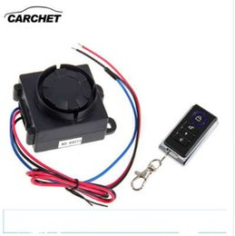 control security systems Canada - CARCHET Motorcycle Universal Security Alarm Anti-theft System 120-125dB 12V Vibration Remote Control Detector FREE SHIPPING