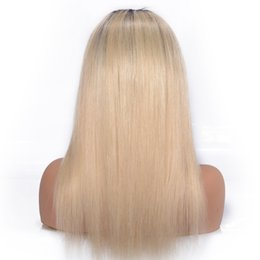 Long Blonde Straight Human Hair UK - Lace Front Wig Long Human Hair Blonde Color 613 Color LACE FRONTAL WIGS Long Brazilian Hair Natural Straight