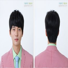 Mans Small Wig Canada - Men Wig Number 21 *16 inch Size Uniform Lace Wig PU Sell Assets Heat System Human Hair 100% Toupee Hair Men Free Delivery Free Of Kabell