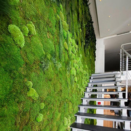 InterIor backgrounds online shopping - 1M M Square Artificial Plant Lawn Home Simulation Plant Background Wall Moss Turf Green Sod Interior Window Decoration