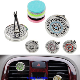 bulk cars Canada - Crystal Car Air Freshener Essential Oils Diffuser with 5PCS Free Washable Felt Pads Gifts For Girls Free shipping