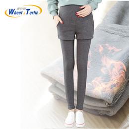 Leggings Pregnant Australia - Super Warm Winter Legging Pants For Pregnant Women Thicken Velvet Maternity Leggings Winter Clothing For Pregnancy Pencil Pants