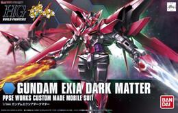 Dark Figures NZ - 1PC Bandai HGBF Build Fighters 013 1 144 Gundam Exia Dark Matter Mobile Suit model assembled Robot action figure gunpla juguetes