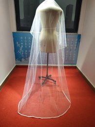 Small veilS online shopping - Simple Design Pure White Small Wedding Veil Cheap Price Metres Long Chapel Length For Bride Girls Veils In Stock