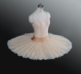 $enCountryForm.capitalKeyWord Australia - Beige Ballet Rehearsal Tutu Skirt Kids Black Ballet Half Tutu White Professional Rehearsal Ballet Platter Practicing Pancake Tutus For Girls