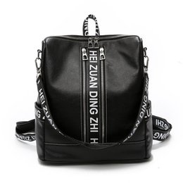 7823c0e09d5 New Hip-hop Style Multifunctional Women Backpack Schoolbag Girls PU Leather Travel  bag Vintage College Student Casual School bag