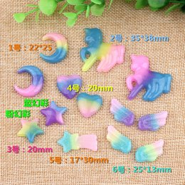 $enCountryForm.capitalKeyWord Australia - Mix Resin moon heart star wings horse charms flatback kawaii cabochon for diy craft fashion jewelry making findings components