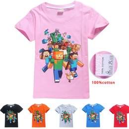 cartoon for 14 years old Canada - 6 Colors Cartoon T-Shirts Kids Summer Tops Girls Boys Short Sleeve T Shirt for 6-14 years old