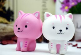 $enCountryForm.capitalKeyWord NZ - Jumbo Squishy Pink White Cat Kawaii Cute Animal Slow Rising Sweet Scented Vent Charms Bread Cake Kid Toy Doll Gift Y104