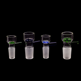 female bong bowls blue Australia - 14mm Bowls 18mm Male Female joint glass bowl holder Blue Green Snowflake Filter thick bowl piece for Oil Rigs Glass bongs