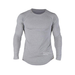 $enCountryForm.capitalKeyWord UK - ONEDOYEE Muscle Men's Running Tee Shirt Cotton Round Neck Long Sleeve Sports T-Shirts Male Bodybuilding Jerseys Gym Wear Men