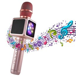 Mobile K NZ - Wireless Bluetooth microphone K song speaker handheld microphone E101 double-sided LED lantern K song artifact music mobile gift