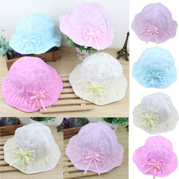 Baby Cotton Sunhats NZ - Hot Toddler Infant Baby Girls Outdoor Bucket Hats Sun Beach cotton sunhat