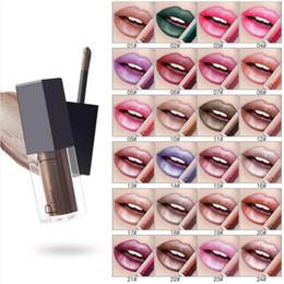 Lip gLoss 24 coLor online shopping - Pudaier Long Lasting Glitter Lip Gloss Tint Lips Liquid Lipstick Batom Maquiagem Colors Nude Shimmer Lip Makeup Sexy Lipstick